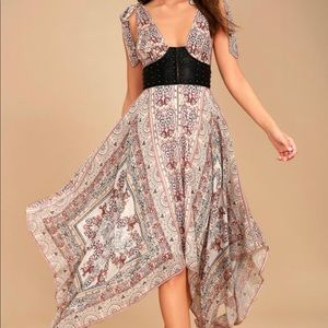 Free People Dresses - Sexy boho paisley bustier dress